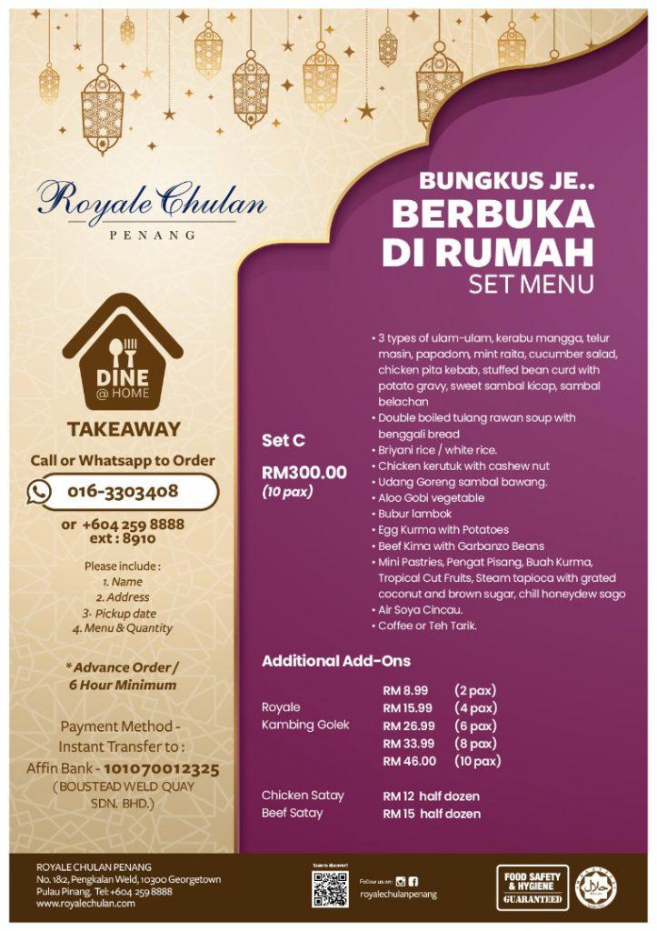 RCP Ramadan takeaway set menu